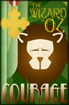 Wizard of Oz Cowardly Lion Deco Poster Design