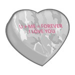U + ME = FOREVER I LOVE YOU  Candy Heart