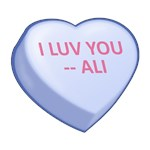 I LUV YOU -- ALI  Candy Heart