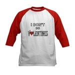 Anti-Valentine Kids Baseball Jersey