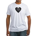 Heart of Stone Anti Valentine's Day Fitted T-Shirt