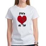 Stuck on you valentine Women's T-Shirt