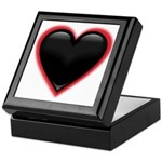 Black Glossy Heart Anti Valentine Keepsake Box