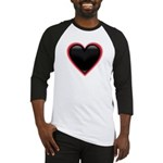 Black Glossy Heart Anti Valentine Baseball Jersey