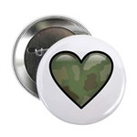 "Love Military Cammo Heart 2.25"" Button (10 pack)"