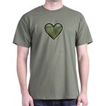 Love Military Cammo Heart Dark T-Shirt