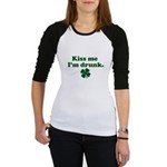 Kiss Me I'm Drunk Jr. Raglan
