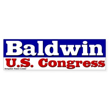 Re-Elect Tammy Baldwin for Congress (bumper sticker for the Wisconsin congressional campaign)