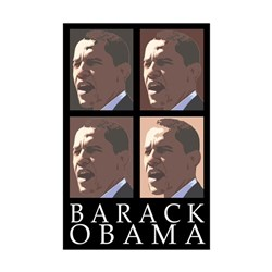 Barack Obama Portrait Four Panels in a Poster bumper sticker
