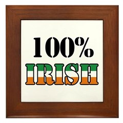 100 Percent Irish T-Shirts Framed Tile