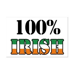 100 Percent Irish T-Shirts Mini Poster Print