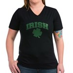 Irish Women's V-Neck Dark T-Shirt