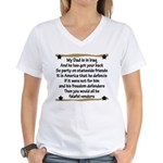 My Daddy's Got Your Back Women's V-Neck T-Shirt