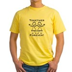 Together Forever Lesbian Yellow T-Shirt