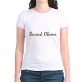 Script Barack Obama Jr. Ringer T-Shirt