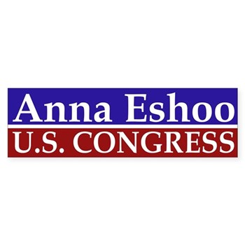 Anna Eshoo for Congress bumper sticker