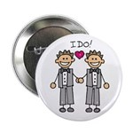 "Men's Gay Marriage 2.25"" Button (100 pack)"