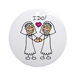Lesbian Wedding Ornament (Round)