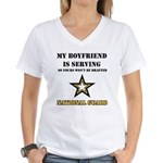 National Guard - My Boyfriend Women's V-Neck T-Shi