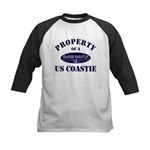 Property of US Coastie Kids Baseball Jersey