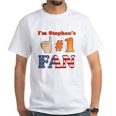 I'm Stephen's #1 Fan White T-Shirt