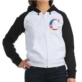 C stands for Colbert Women's Raglan Hoodie