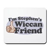 You might be going to hell, but that shouldn't stop you from being Stephen Colbert's friend. If you're Wiccan and a member of the Colbert Nation, you need this! I'm Stephen's Wiccan Friend!