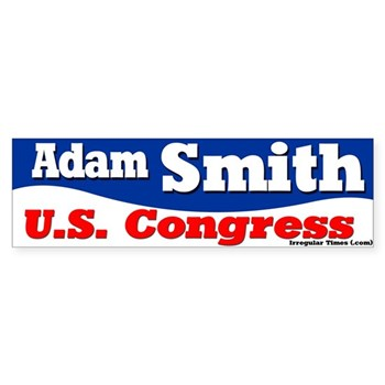 Adam Smith for U.S. Congress bumper sticker