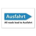 All roads lead to Ausfahrt Sticker (Rectangle)
