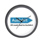 All roads lead to Ausfahrt Wall Clock