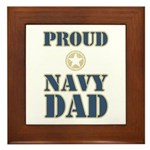 Proud Navy Dad Military Framed Tile