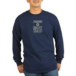 Proud Navy Dad Military Long Sleeve Dark T-Shirt