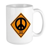 Peace Ahead Large Mug