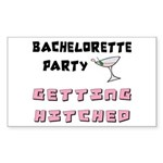 Getting Hitched Sticker (Rectangular)