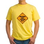 May Contain Nuts! Yellow T-Shirt