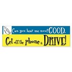 Anti Driving w/ Cell Phone Sticker (Bumper)
