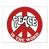 Peace is the word Small Poster