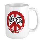 Peace is the word Large Mug