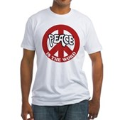 Peace is the word Fitted T-Shirt