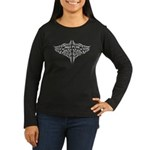 Nga Puhi Moko Women's Long Sleeve Dark T-Shirt