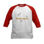 Beach Girl Kids Baseball Jersey