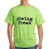Diving Freak Green T-Shirt