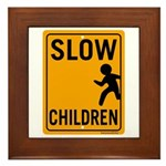 Slow Children Framed Tile