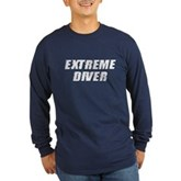 Extreme Diver Long Sleeve Dark T-Shirt