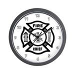 Fire Chief Maltese Wall Clock