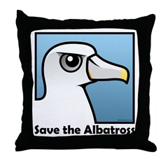 Save the Albatross (close-up) Throw Pillow