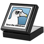 Save the Albatross (close-up) Keepsake Box