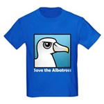 Save the Albatross (close-up) Kids Dark T-Shirt