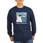 Save the Albatross (close-up) Long Sleeve Dark T-Shirt