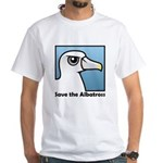 Save the Albatross (close-up) White T-Shirt
